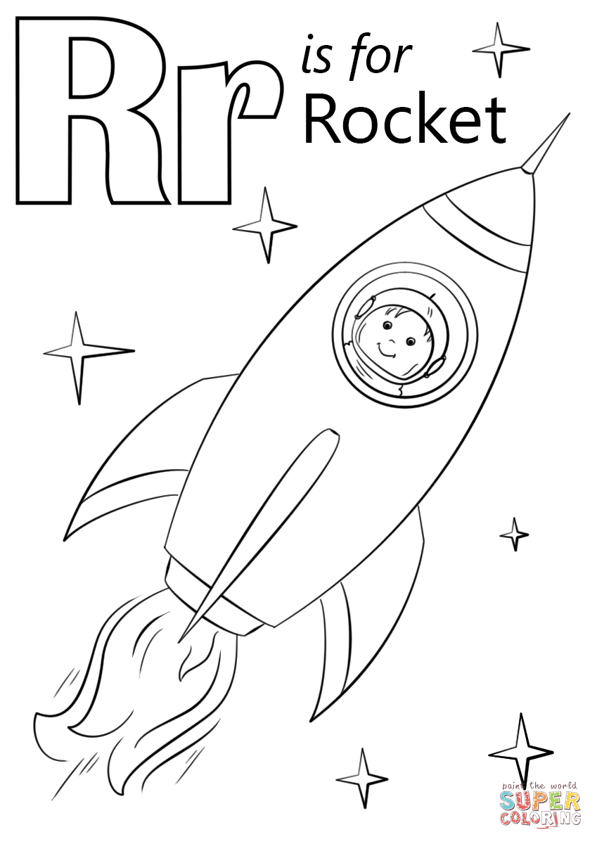 alphabet coloring pages r letter r is for rocket coloring page from letter r pages alphabet r coloring