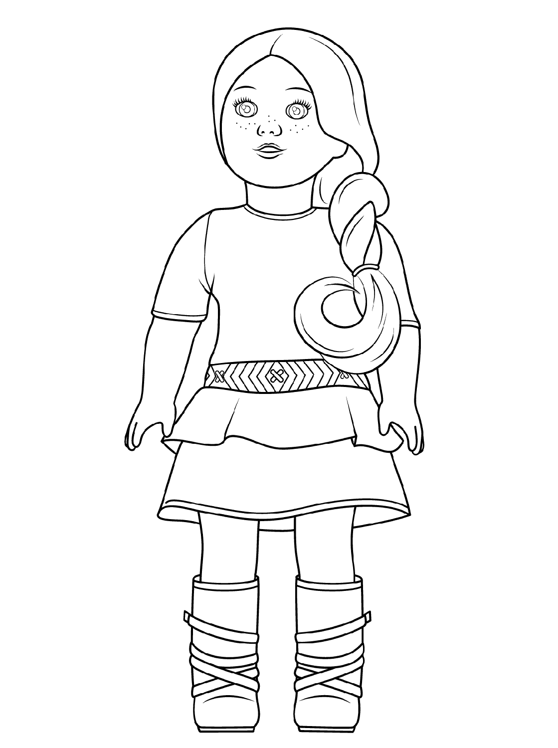 american girl coloring page american girl doll coloring pages coloringrocks girl american page coloring