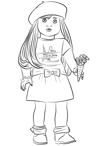 american girl coloring page american girl doll coloring pages free printable american coloring american girl page