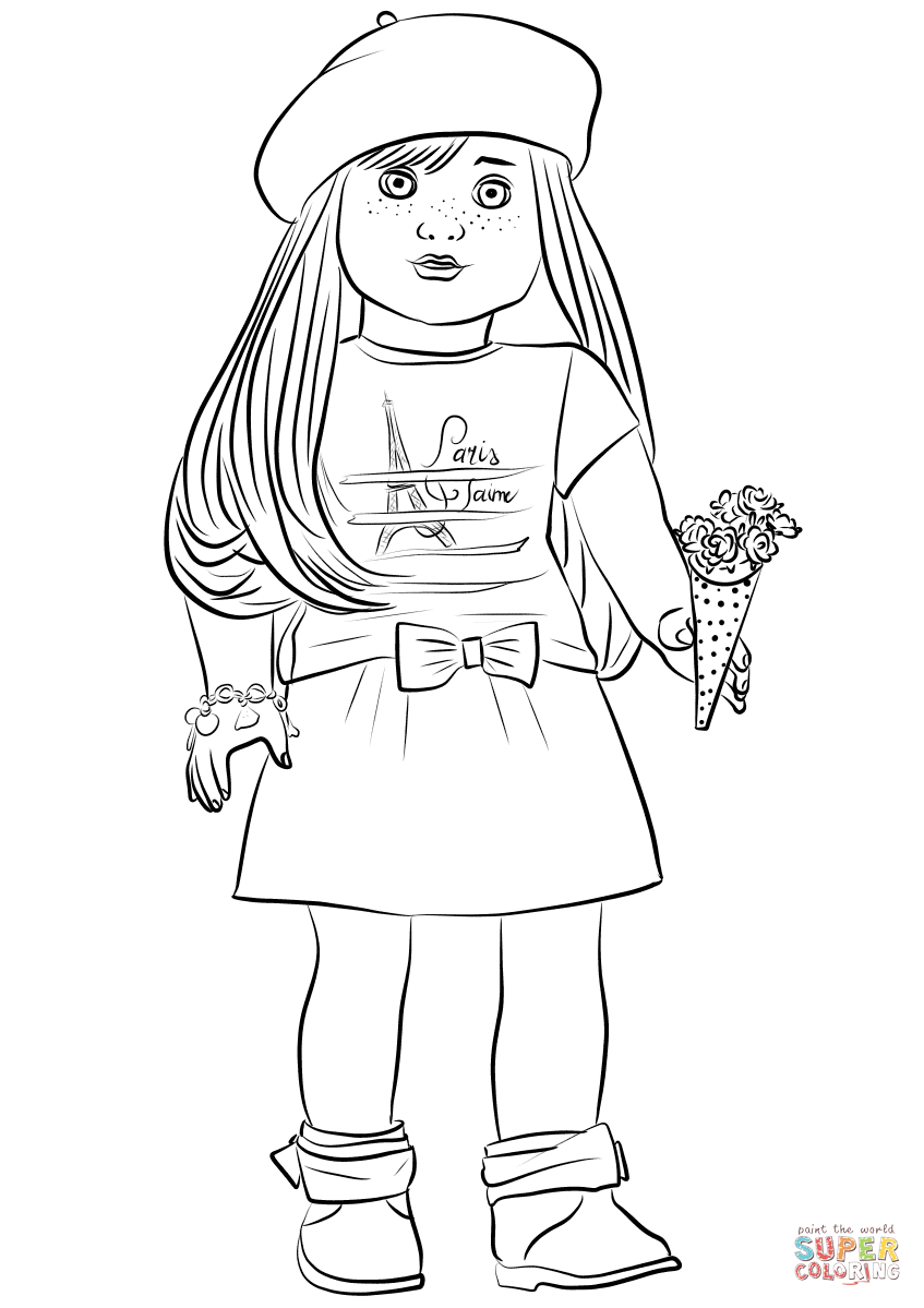 American girl coloring pages grace