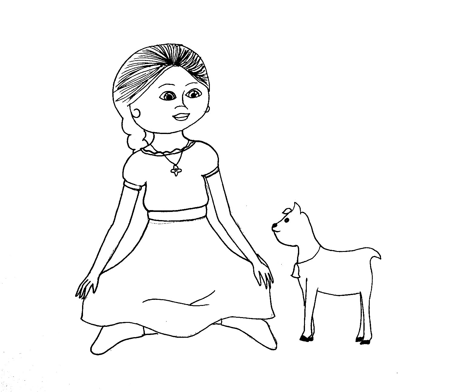 american girl coloring pages grace american girl grace thomas coloring page free printable girl pages american coloring grace