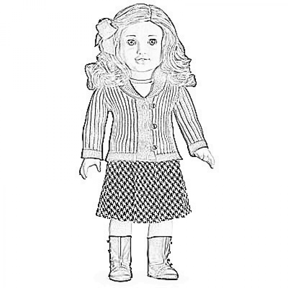 american girl coloring sheets girl with doll coloring page coloring home girl american sheets coloring