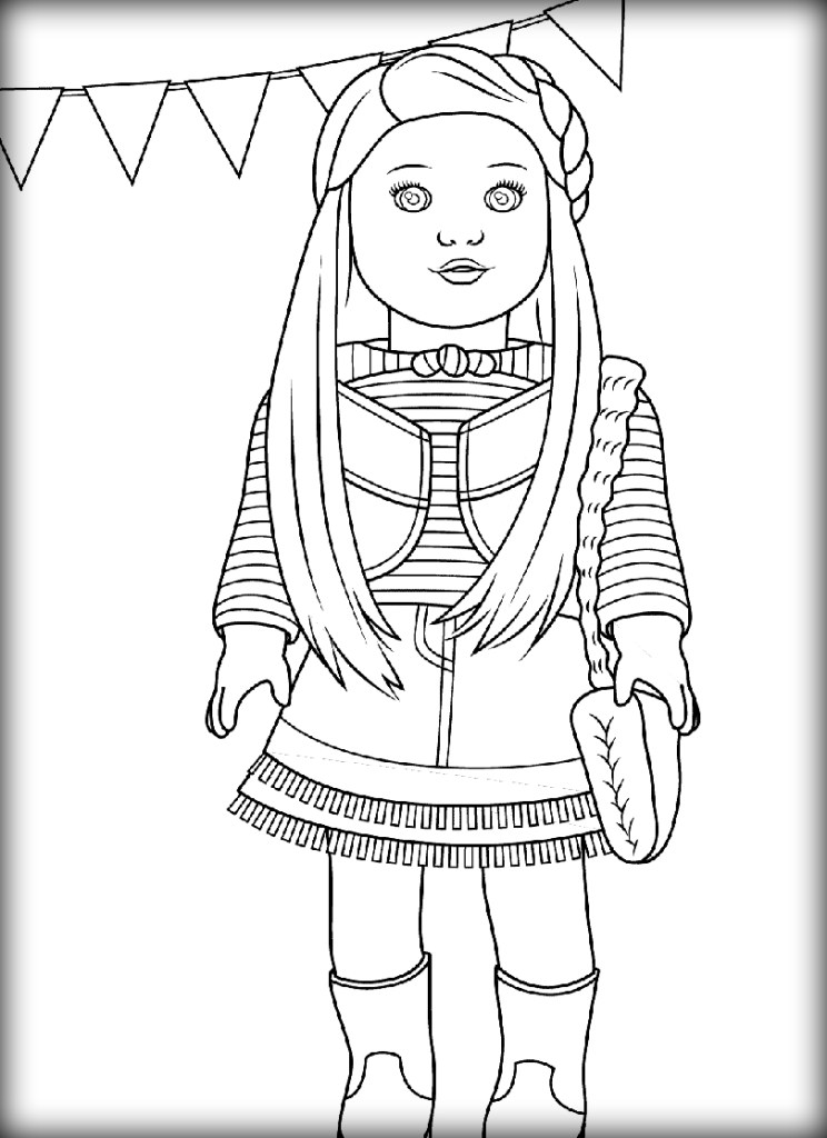 american girl doll coloring page american girl coloring page girl doll page american coloring