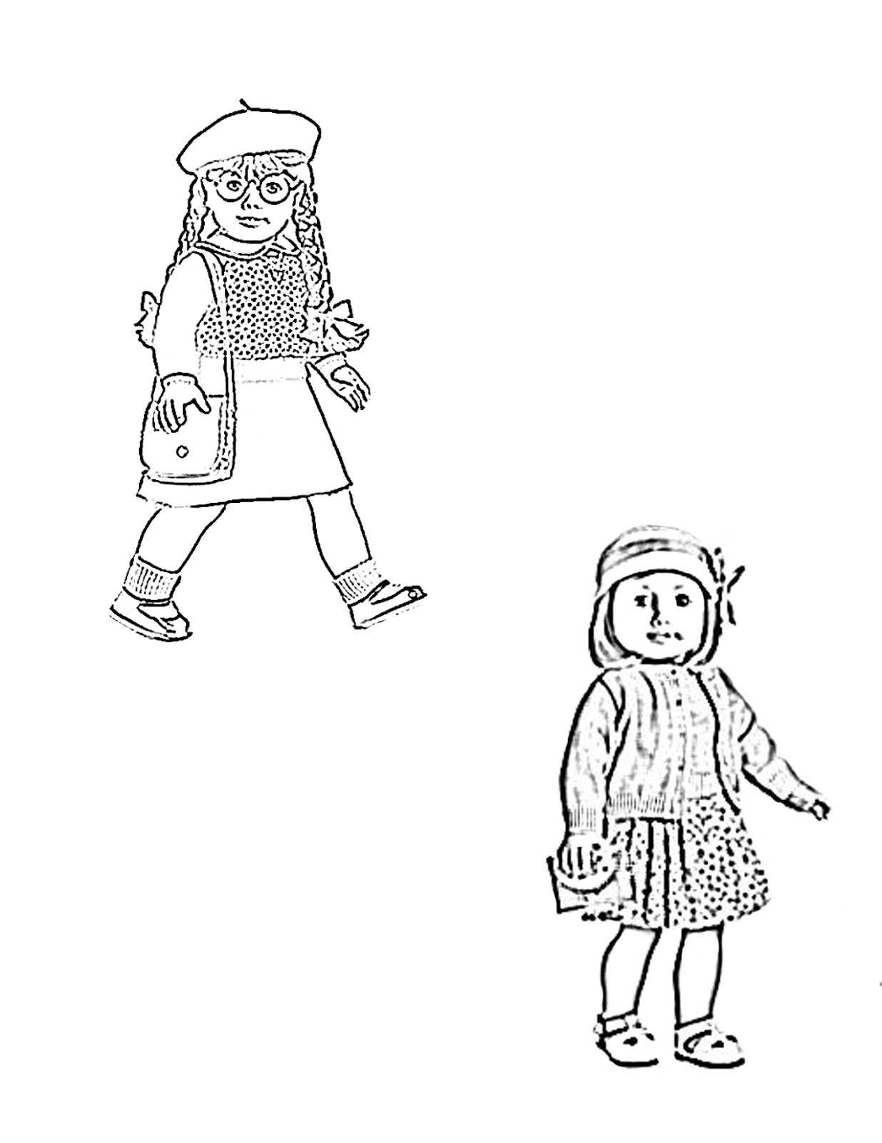 american girl doll coloring page american girl  coloring pages for kids and for adults page girl doll american coloring