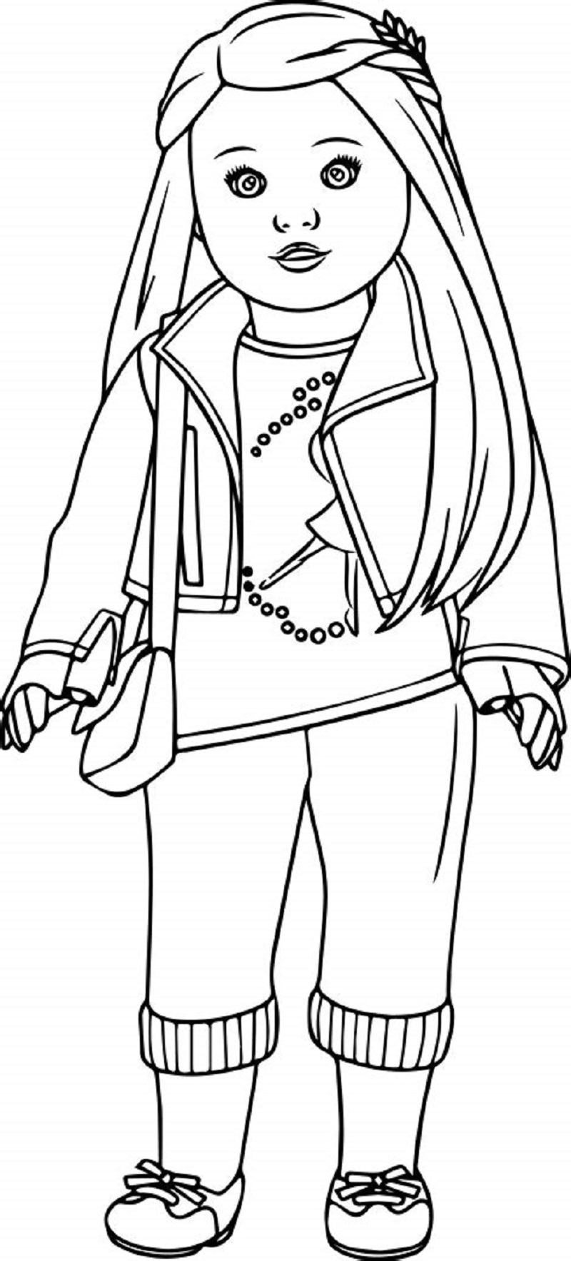 american girl doll coloring page american girl coloring pages kit at getcoloringscom girl doll american page coloring