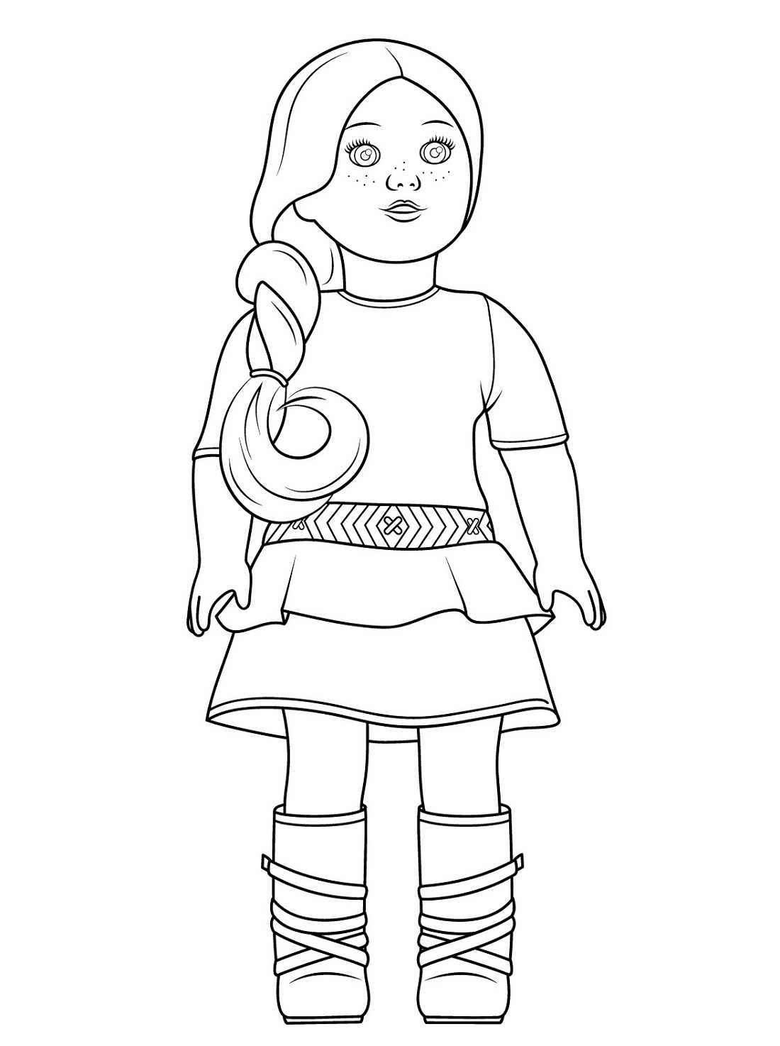 american girl doll coloring page american girl doll julie coloring page free printable page american coloring girl doll