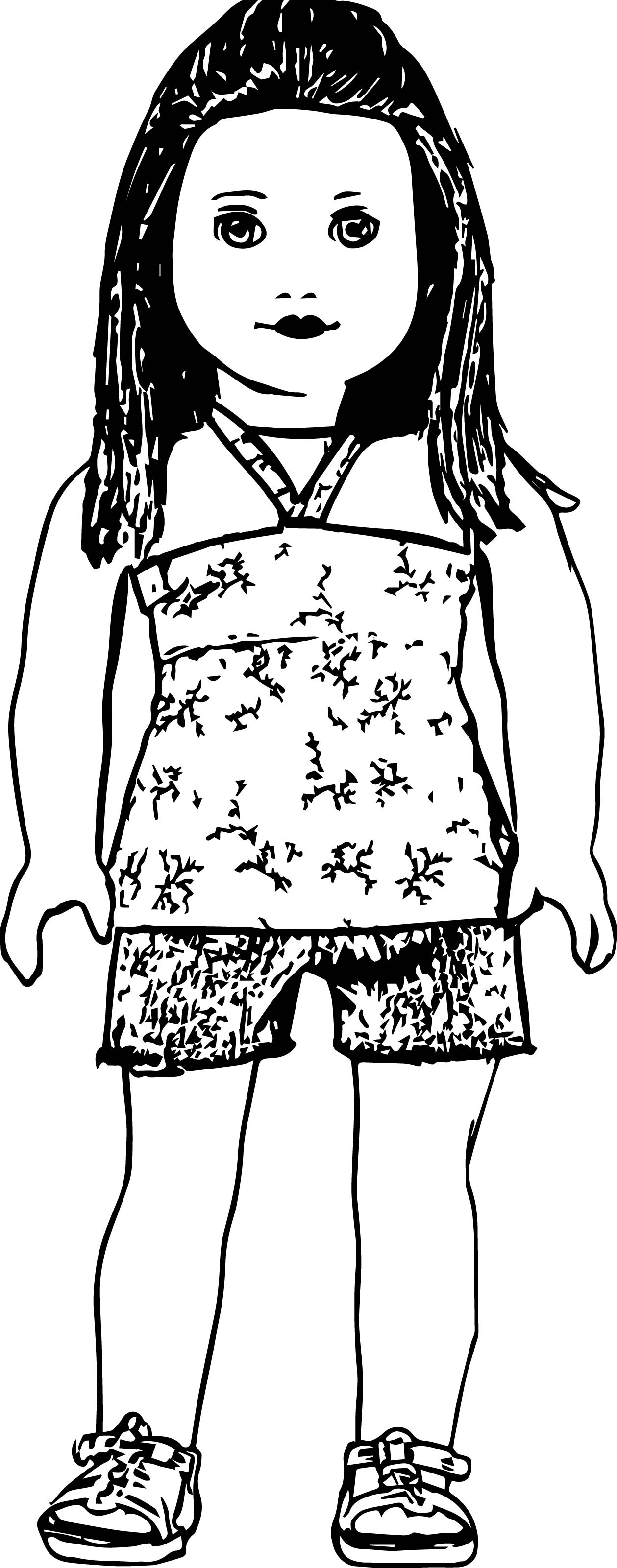 american girl doll coloring pages to print american girl doll coloring pages with images kolorowanki pages print coloring doll american girl to