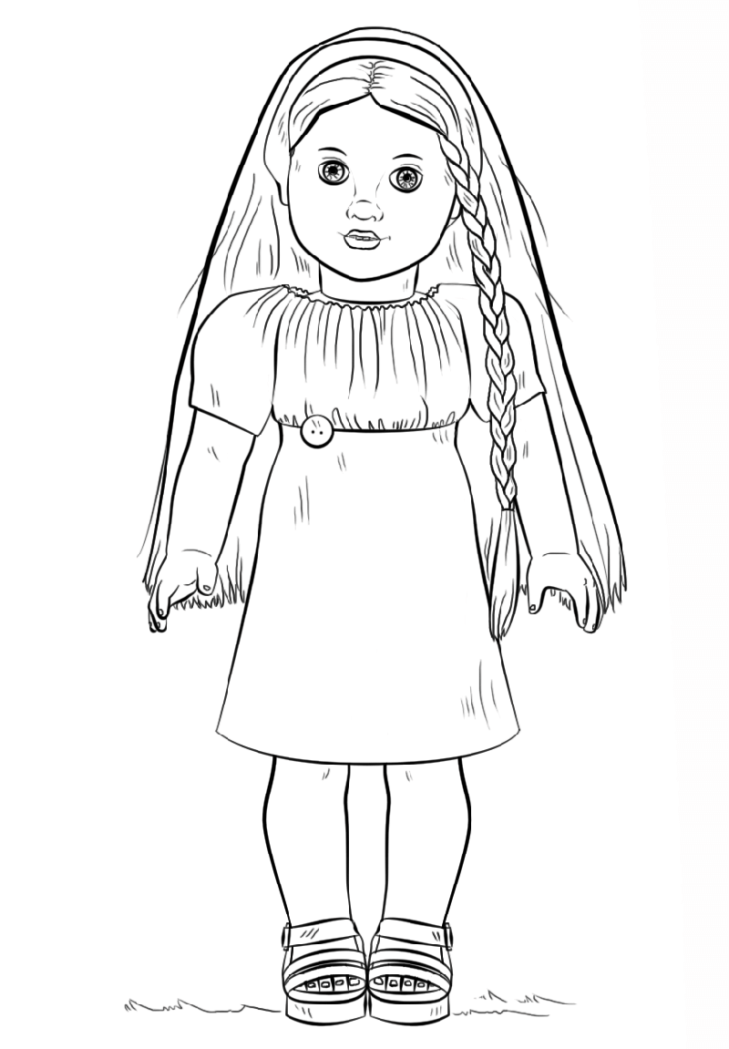 american girl doll coloring pages to print coloring pages best photos of american girl coloring to doll pages girl print coloring american