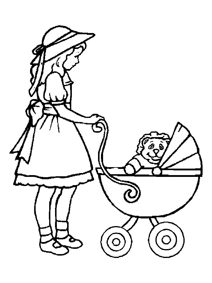 american girl doll coloring pages to print girl with doll coloring page coloring home to doll girl coloring american print pages