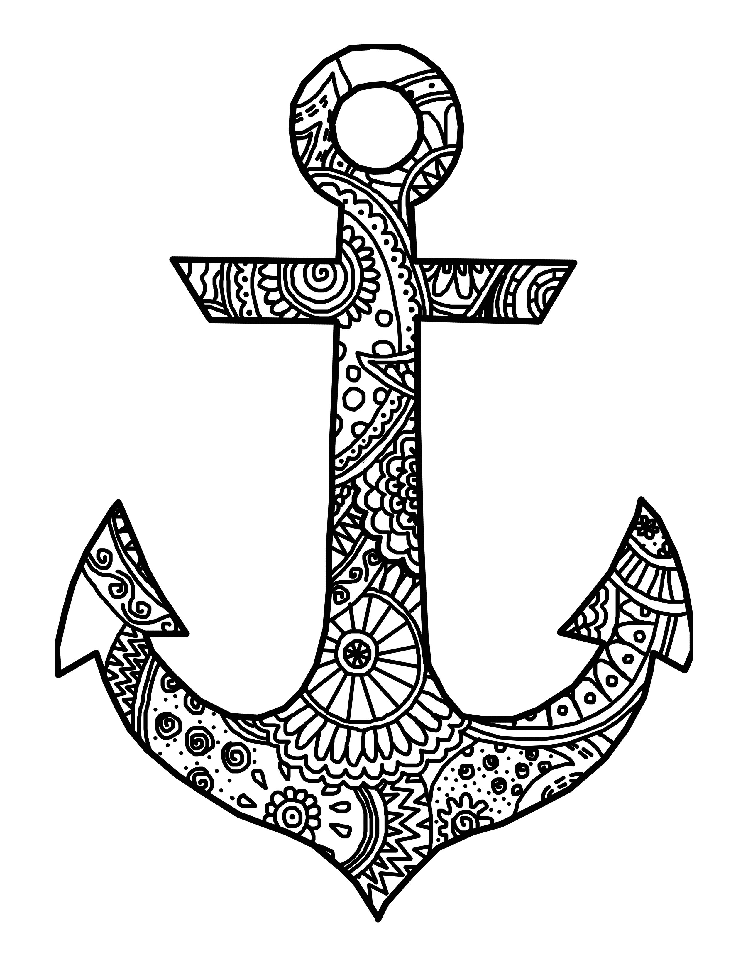anchor coloring page navy anchor free coloring pages page coloring anchor