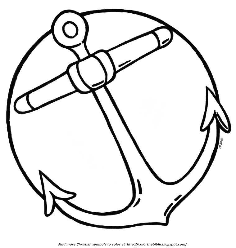 anchor coloring page white anchor clip art sketch coloring page page coloring anchor