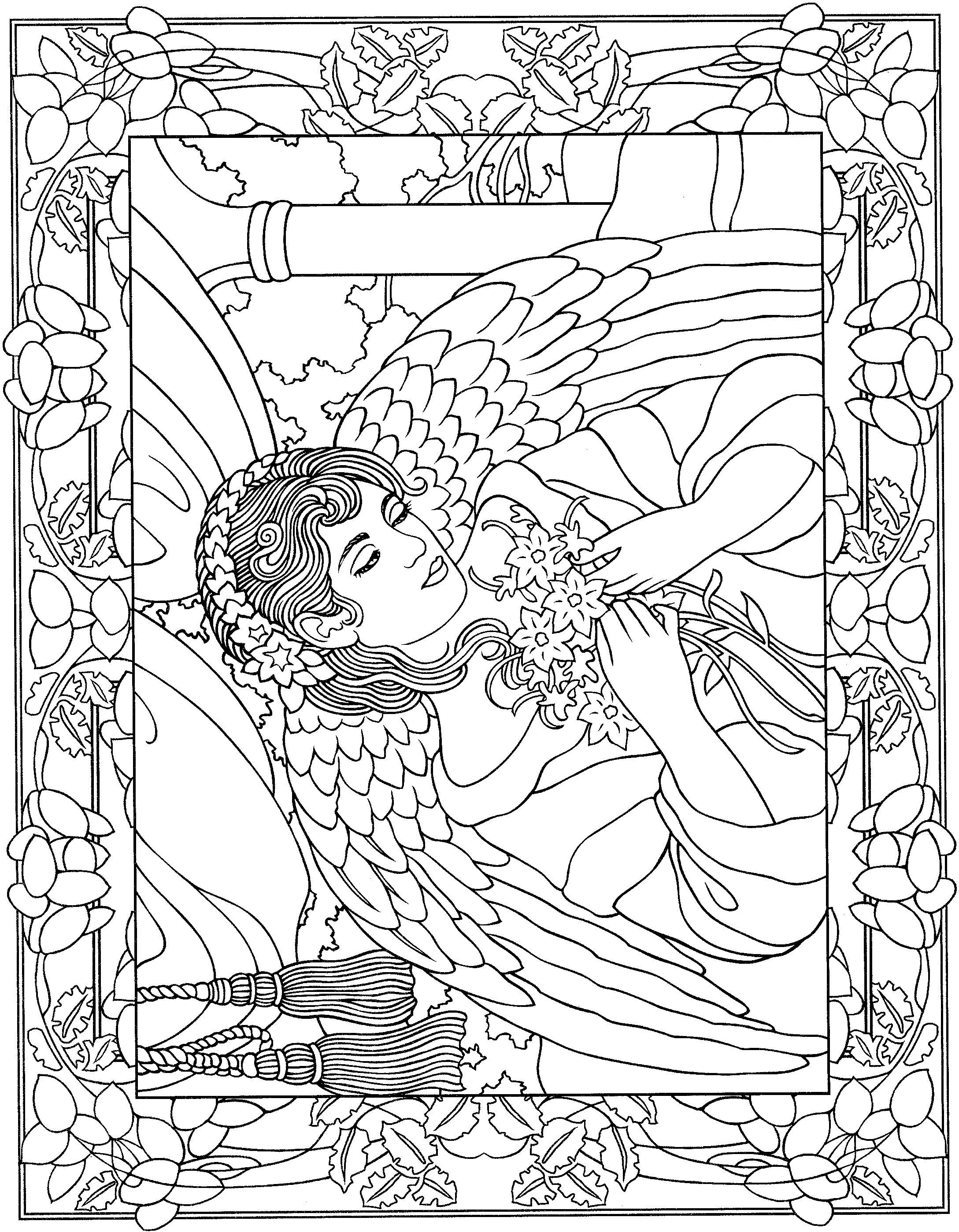 angel coloring page 20 free printable angel coloring pages for adults coloring angel page