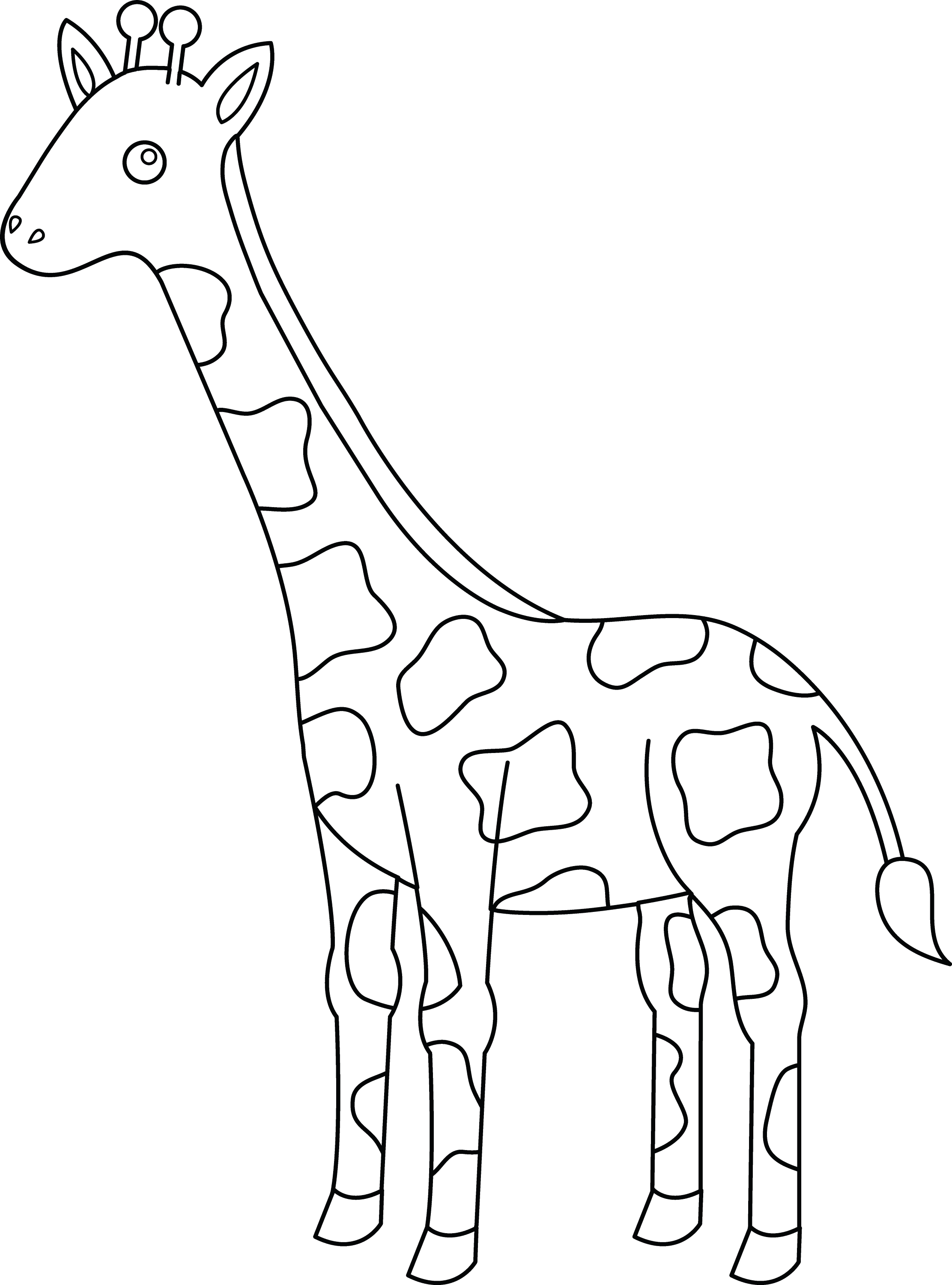 animal outlines to color free giraffe coloring pages animal to outlines color