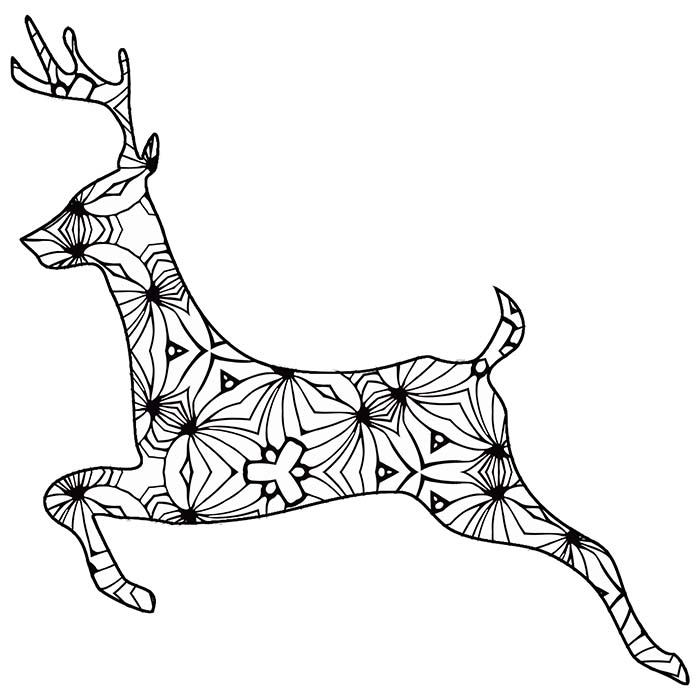 Animal outlines to color