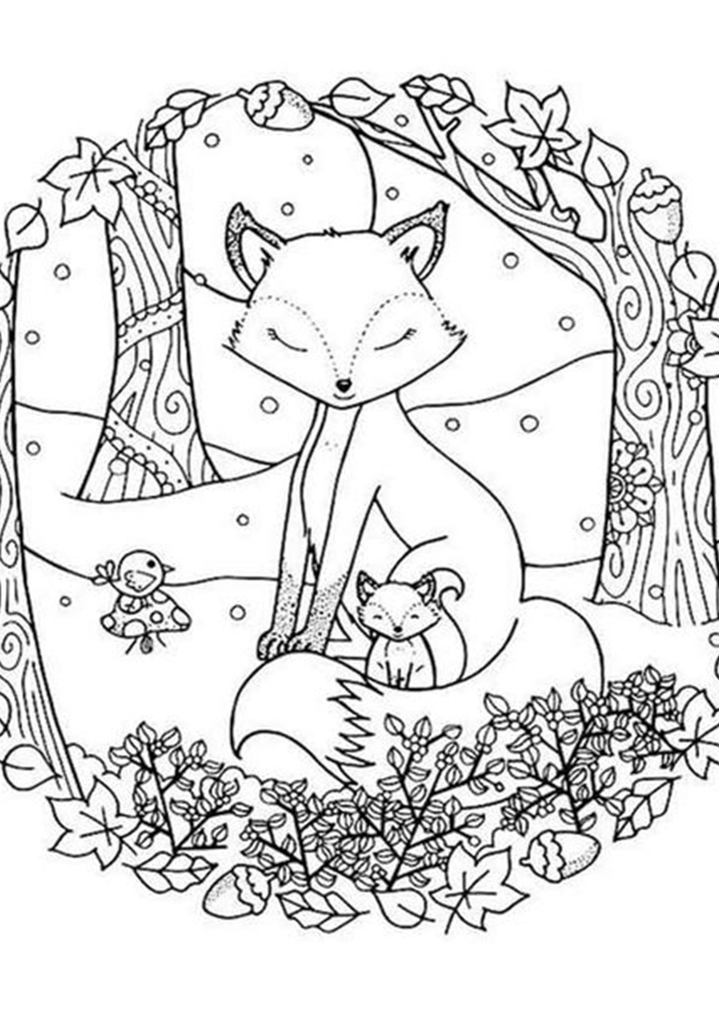 animals in winter coloring pages free easy to print fox coloring pages in 2020 with in coloring winter animals pages