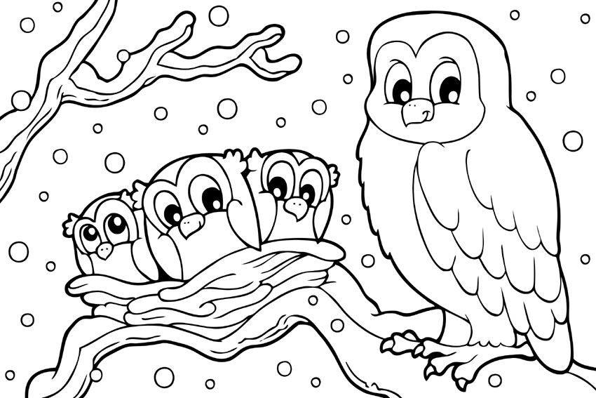 animals in winter coloring pages free printable winter coloring pages coloring pages winter in animals