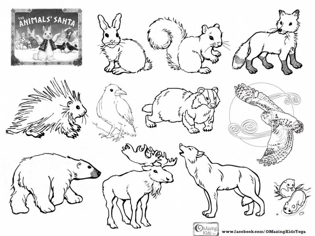 animals in winter coloring pages image result for how do animals survive the winter pages in animals winter coloring