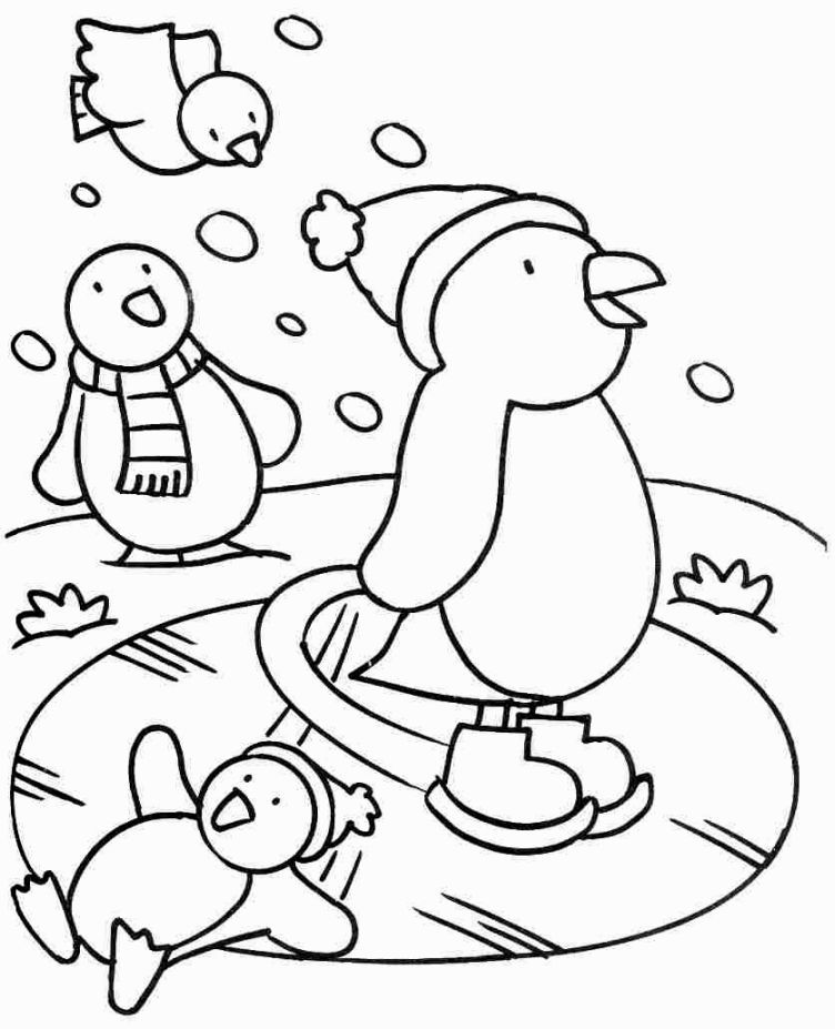 animals in winter coloring pages polar bear wearing santas hat on winter coloring page pages coloring animals in winter