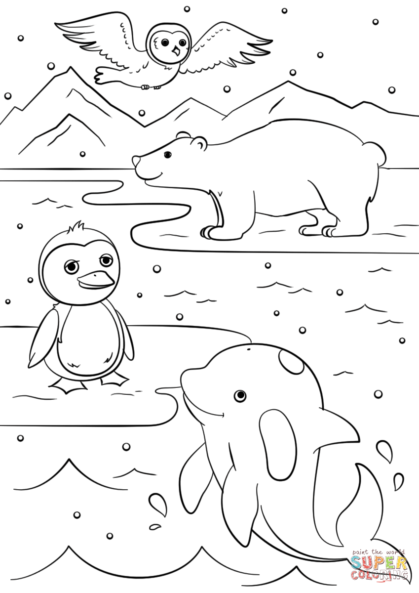 animals in winter coloring pages winter animal coloring pages bubakidscom winter in coloring animals pages