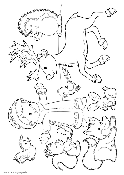 animals in winter coloring pages winter animals hibernation coloring pages sketch coloring page pages winter in coloring animals
