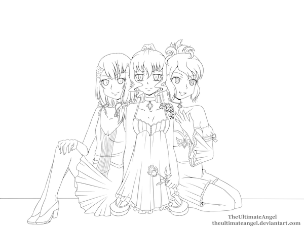 anime bff coloring pages best friends lineart by theultimateangel on deviantart pages bff coloring anime