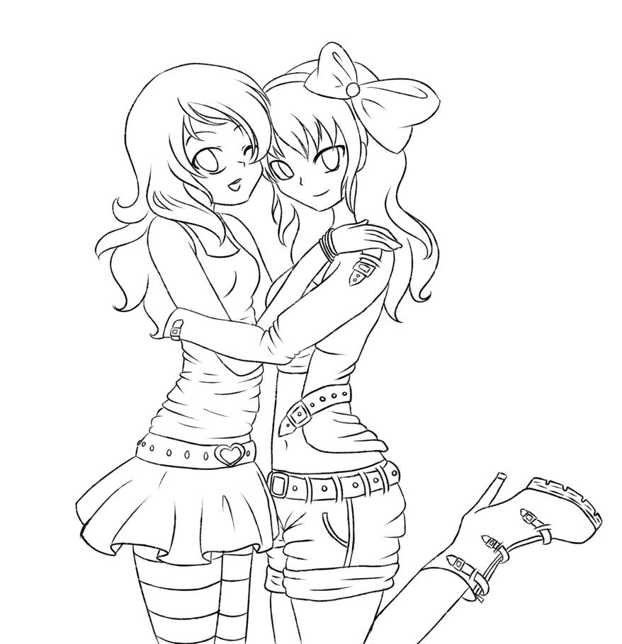 Anime bff coloring pages