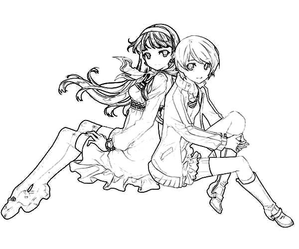 anime bff coloring pages two best friends drawing at getdrawings free download anime bff pages coloring