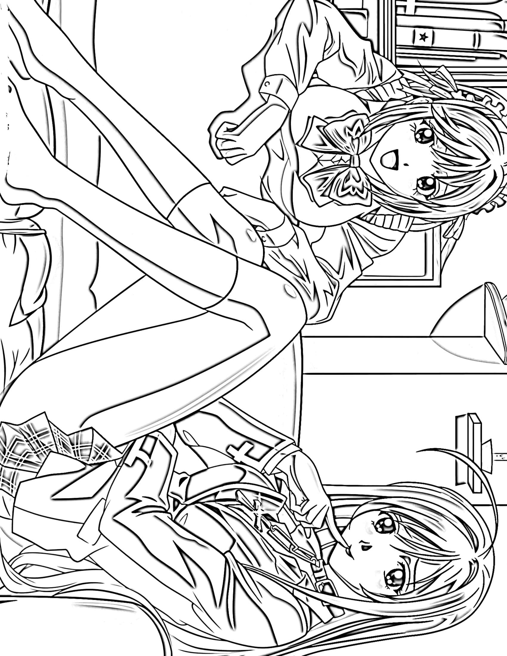 anime coloring pictures anime girl coloring page coloring pages for kids coloring anime pictures