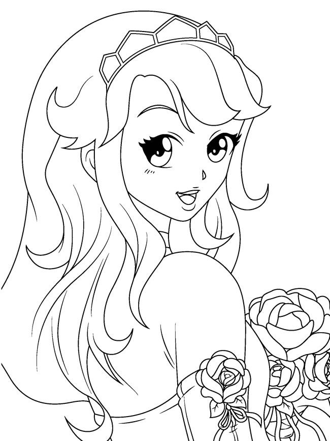 anime girl coloring page anime girl coloring pages coloring pages to download and girl coloring page anime