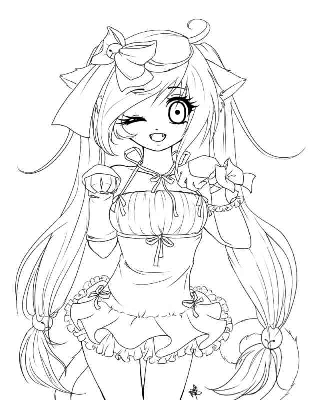 anime girl coloring pages to print 25 marvelous photo of cute girl coloring pages birijuscom girl pages print to anime coloring