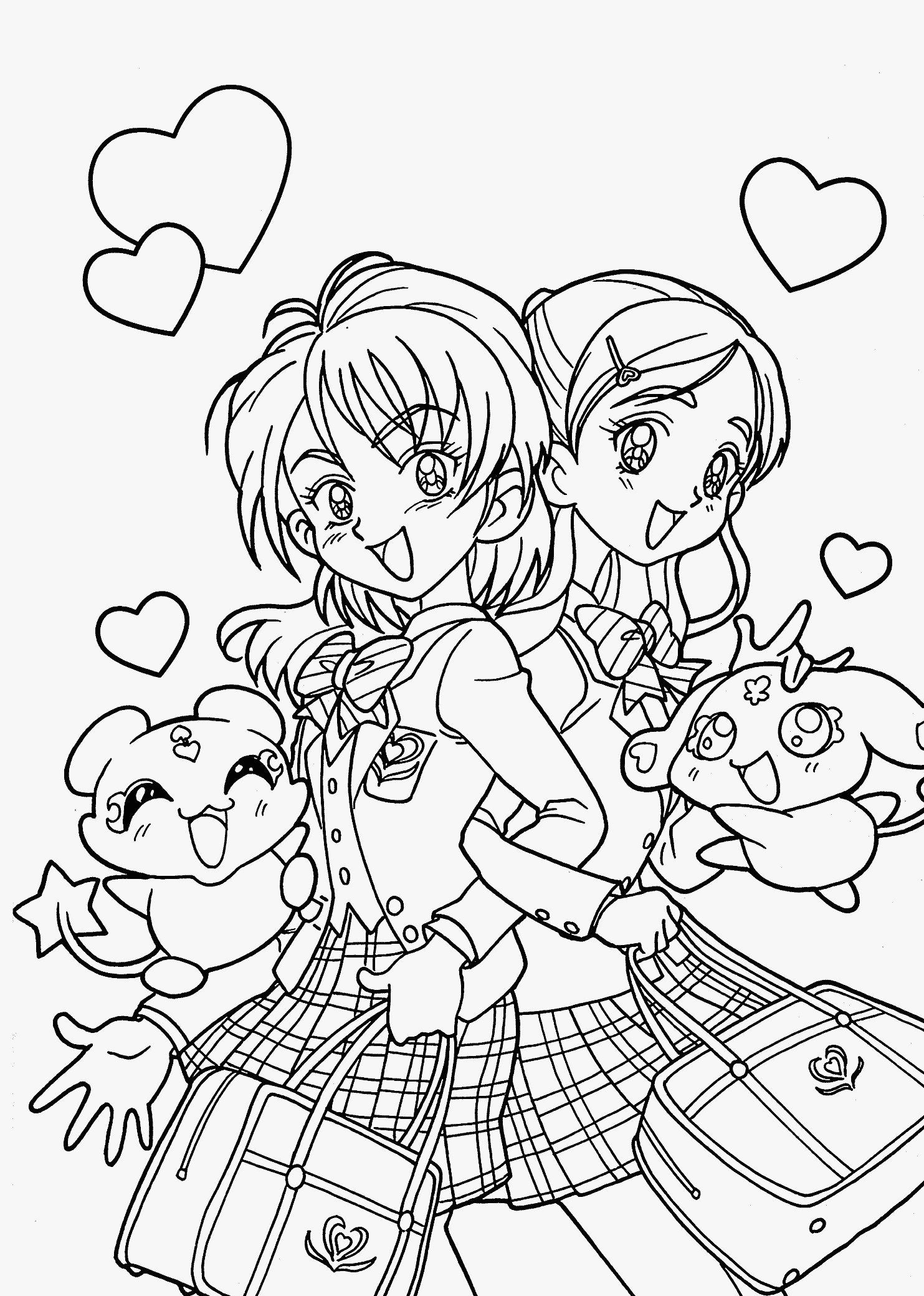 anime girl coloring pages to print anime coloring pages printable various styles k5 worksheets print coloring girl pages to anime