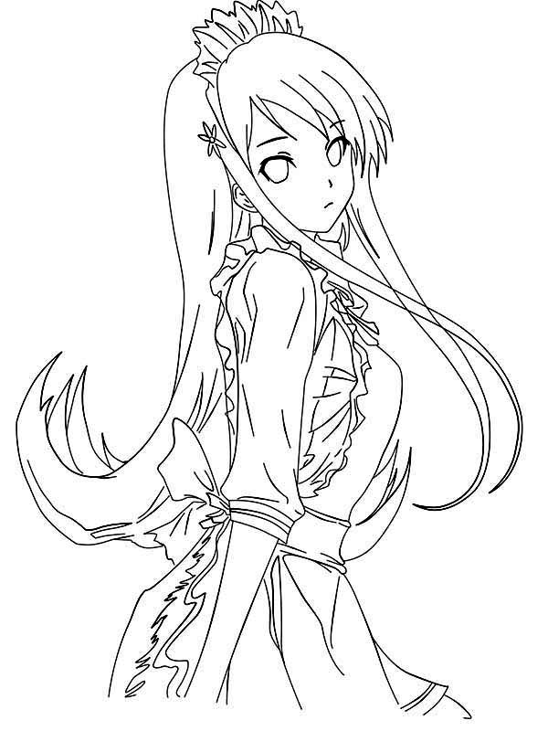 anime girl coloring pages to print coloring pages for girls pdf at getcoloringscom free coloring anime pages to print girl