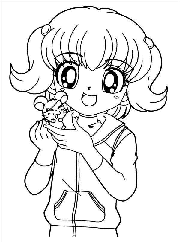 anime girl coloring pages to print nerdy girl drawing at getdrawings free download anime coloring print girl to pages