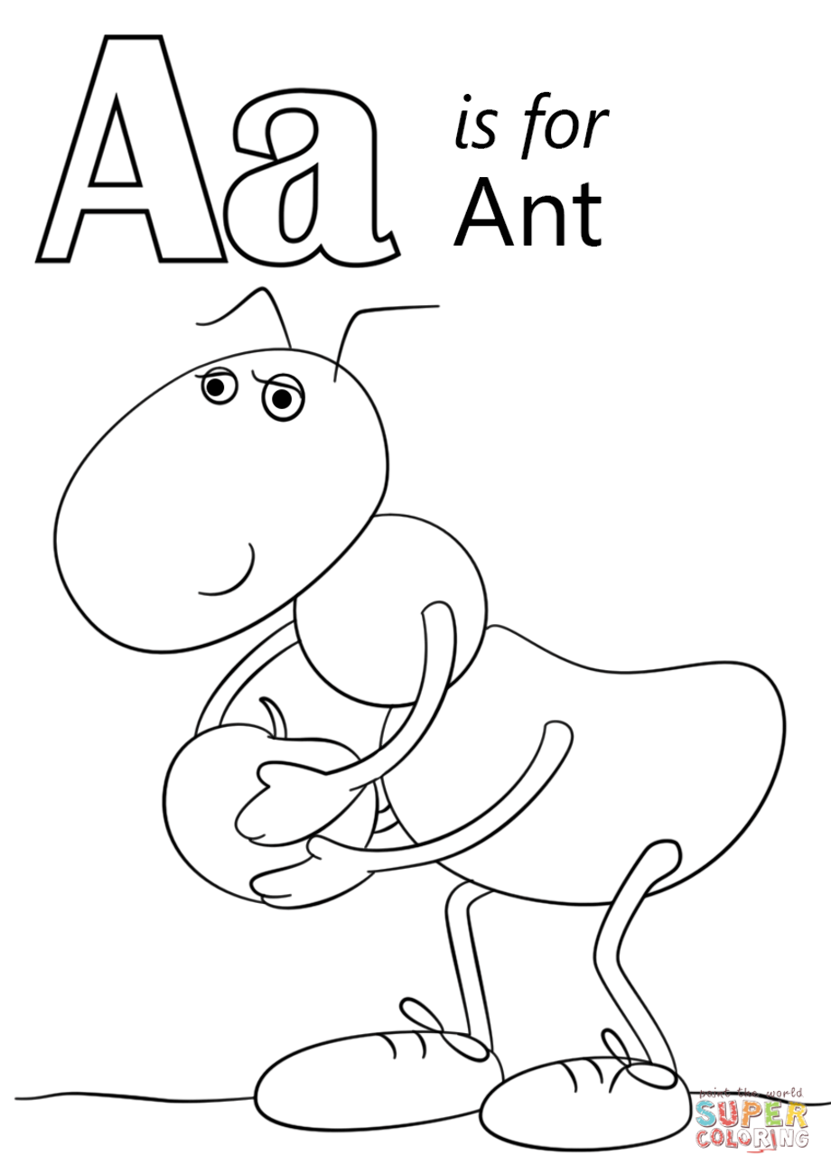 ant picture to color a is for ant coloring page preschool crafts color ant picture to