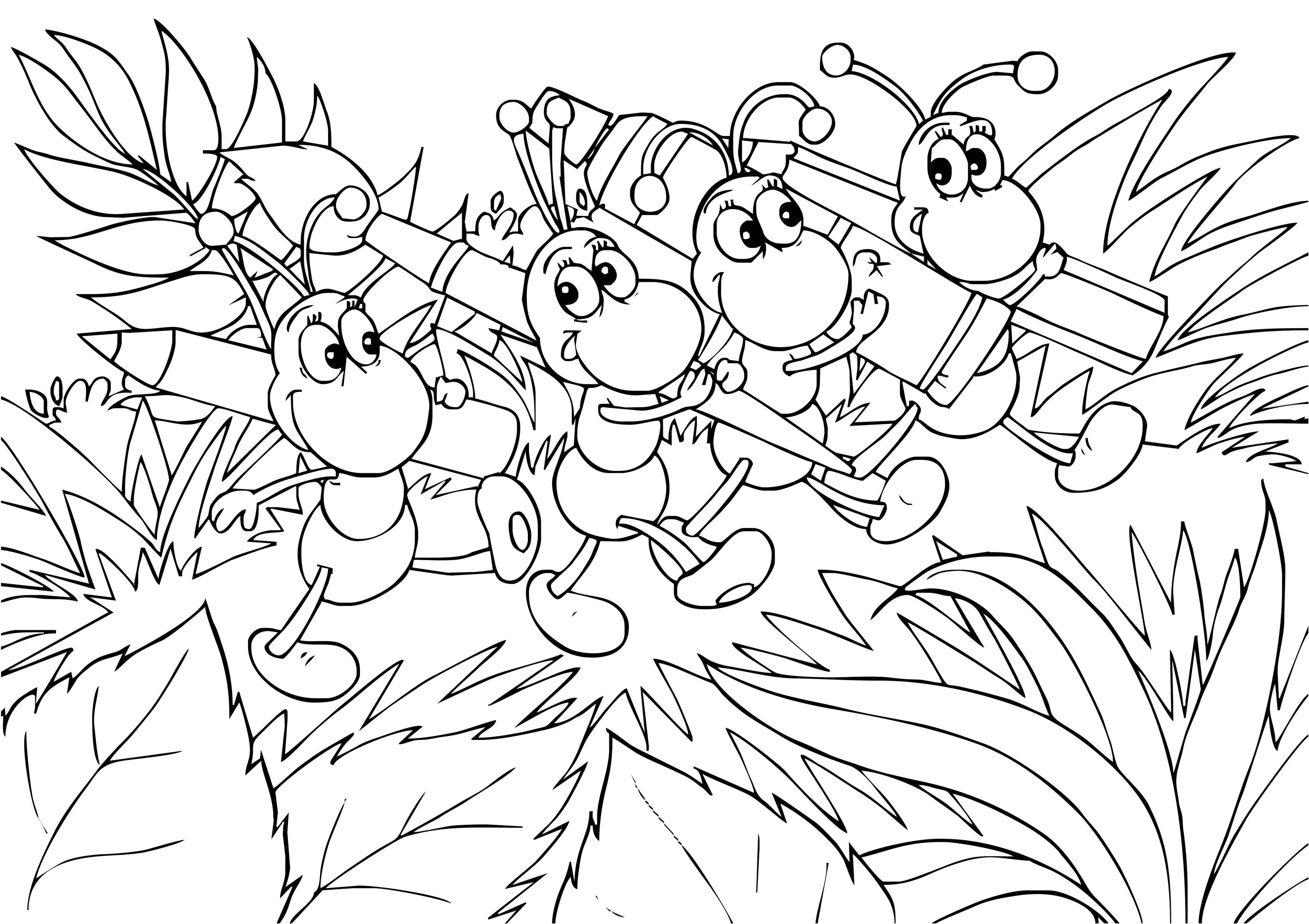 ant picture to color free pictures of ants for kids download free clip art color picture to ant
