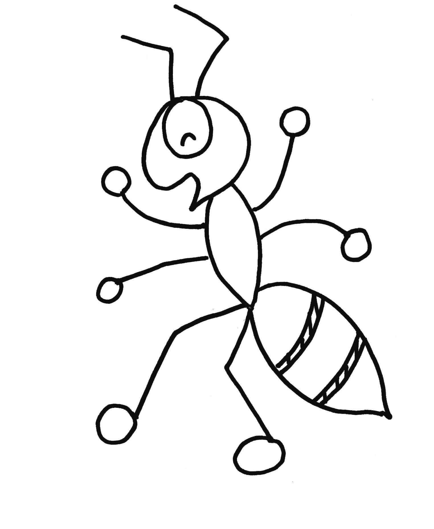 ant picture to color smiling baby ants coloring pages best place to color ant to color picture
