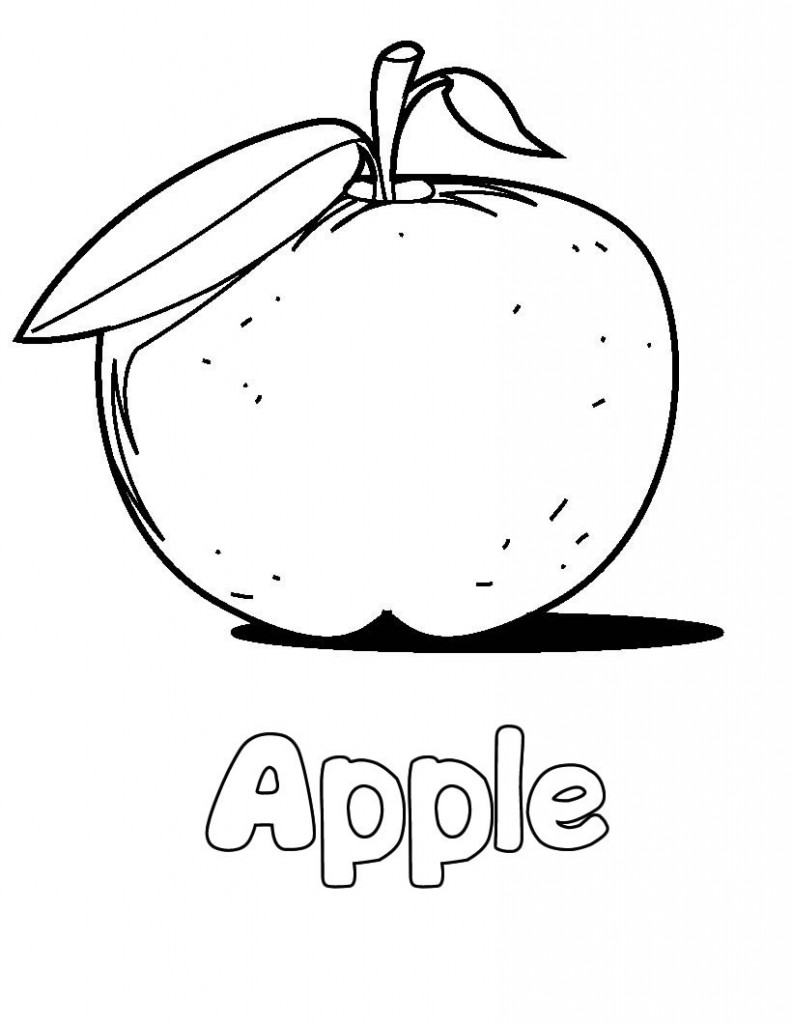 Apple coloring for kids