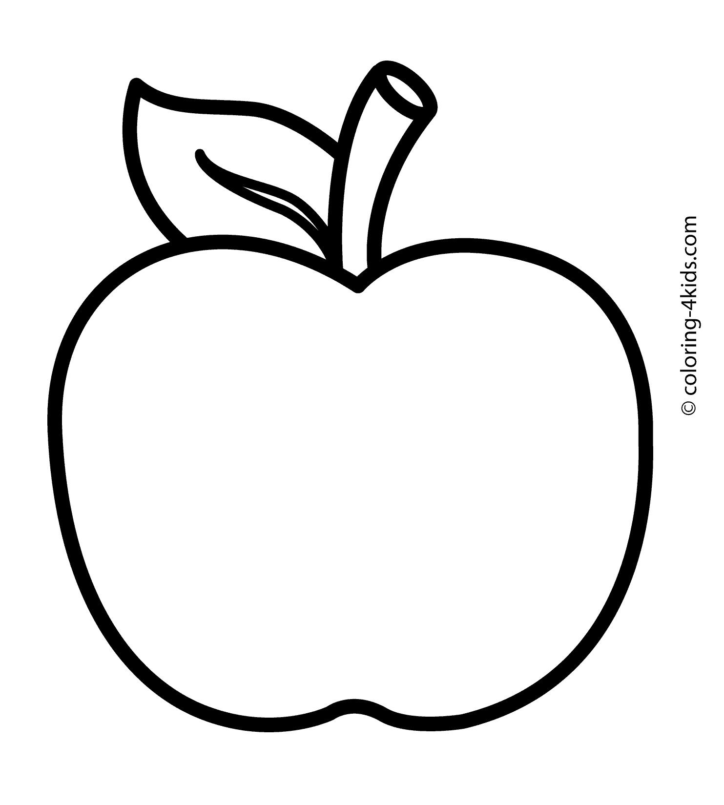 apple coloring for kids apple coloring pages to print for coloring kids apple