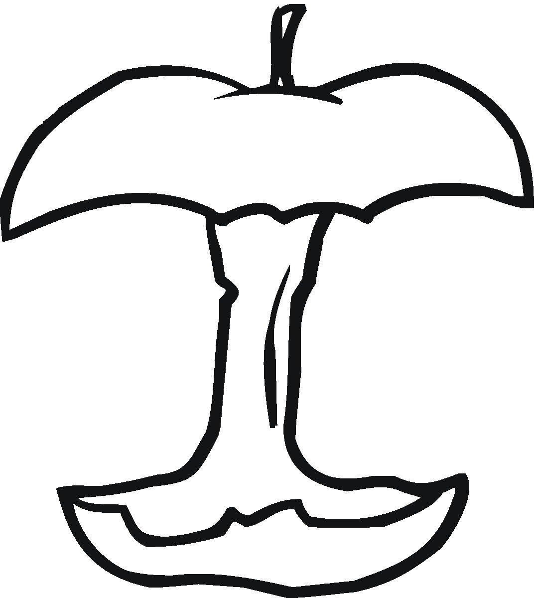 apple coloring for kids printable simple apple outline 9 coloring page apple kids for coloring