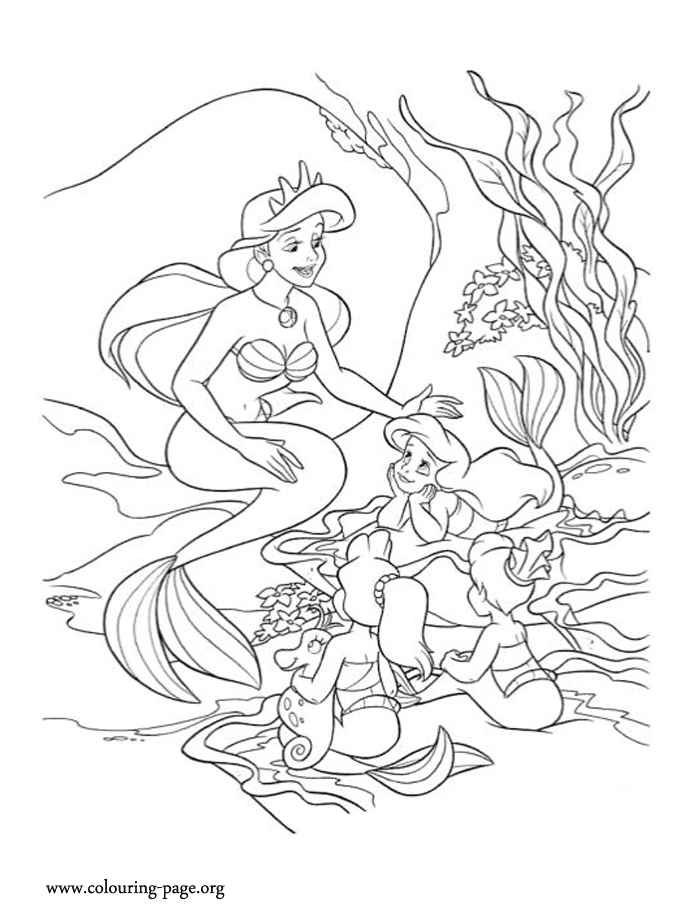 ariels sisters coloring pages ariels sisters coloring pages ariels coloring sisters pages