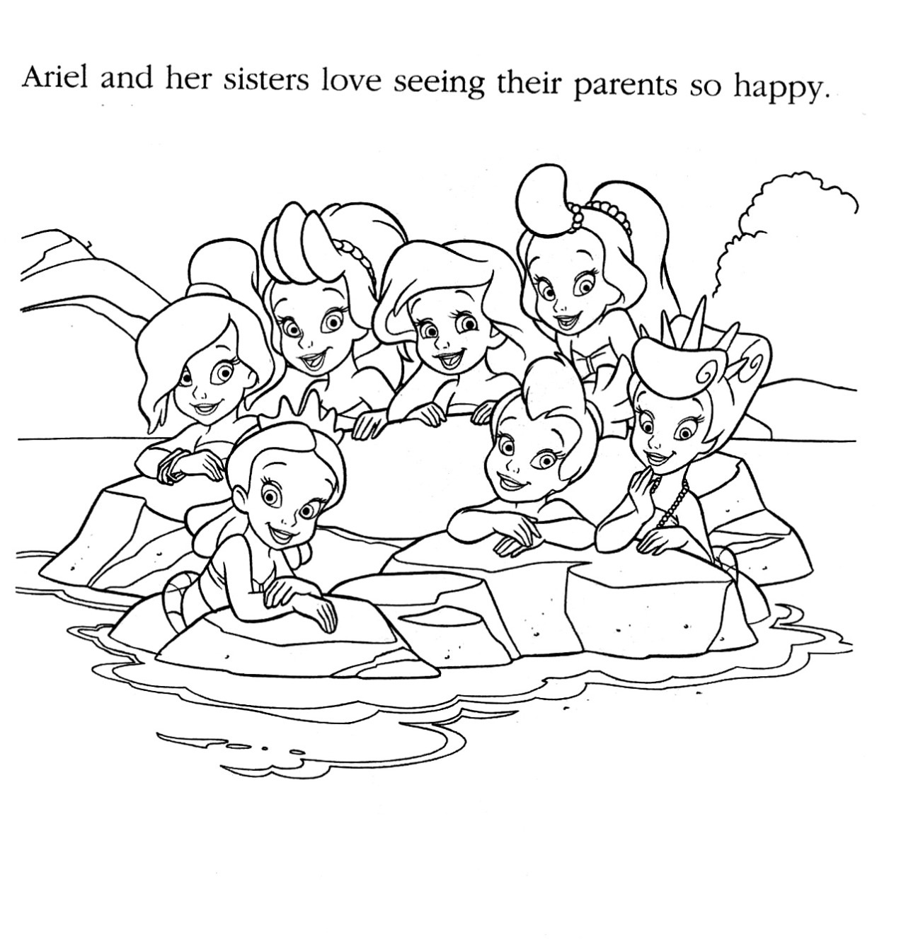 ariels sisters coloring pages ariels sisters little mermaid s8e44 coloring pages printable ariels coloring pages sisters
