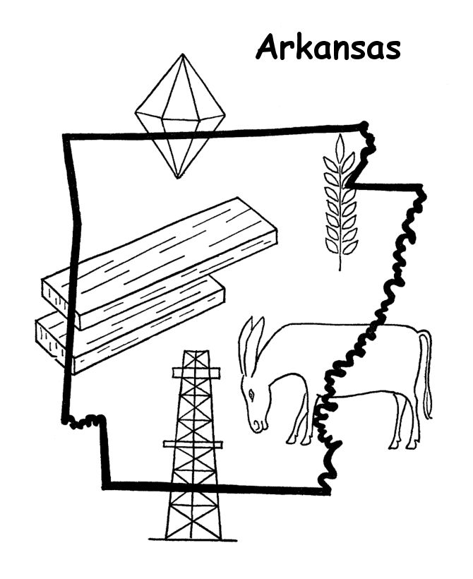 arkansas coloring pages colouring book of flags united states of america coloring pages arkansas