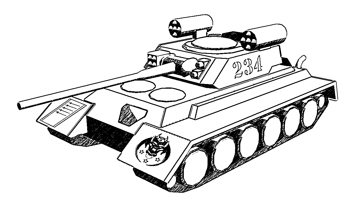 Army tank coloring pictures