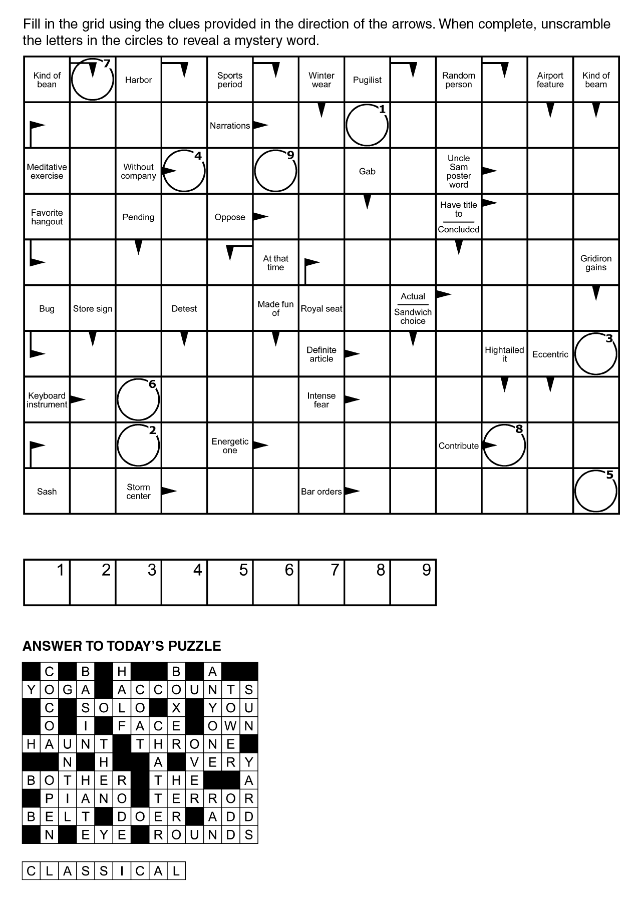 arrowword puzzles digital audio file that can be downloaded crossword puzzles arrowword