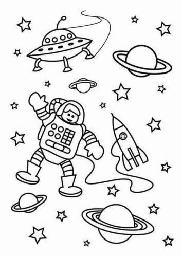 astronomy coloring pages astronaut in outer space coloring page sparkling minds pages coloring astronomy