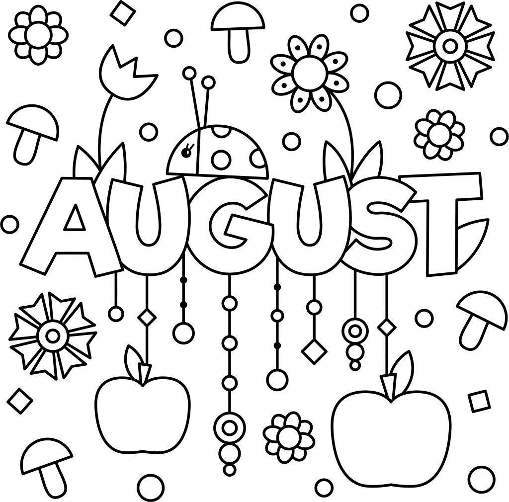 august coloring pages august coloring pages for kids stock illustration pages august coloring