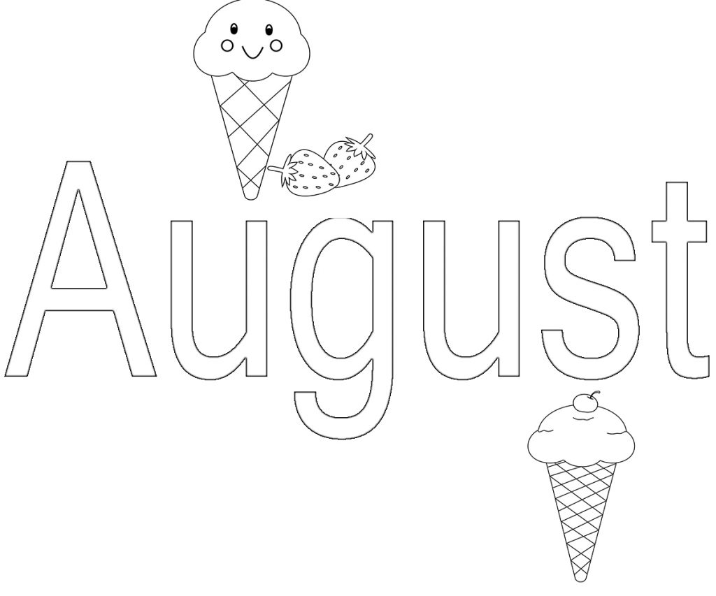 august coloring pages august month colouring pages for kids coloring page august coloring pages