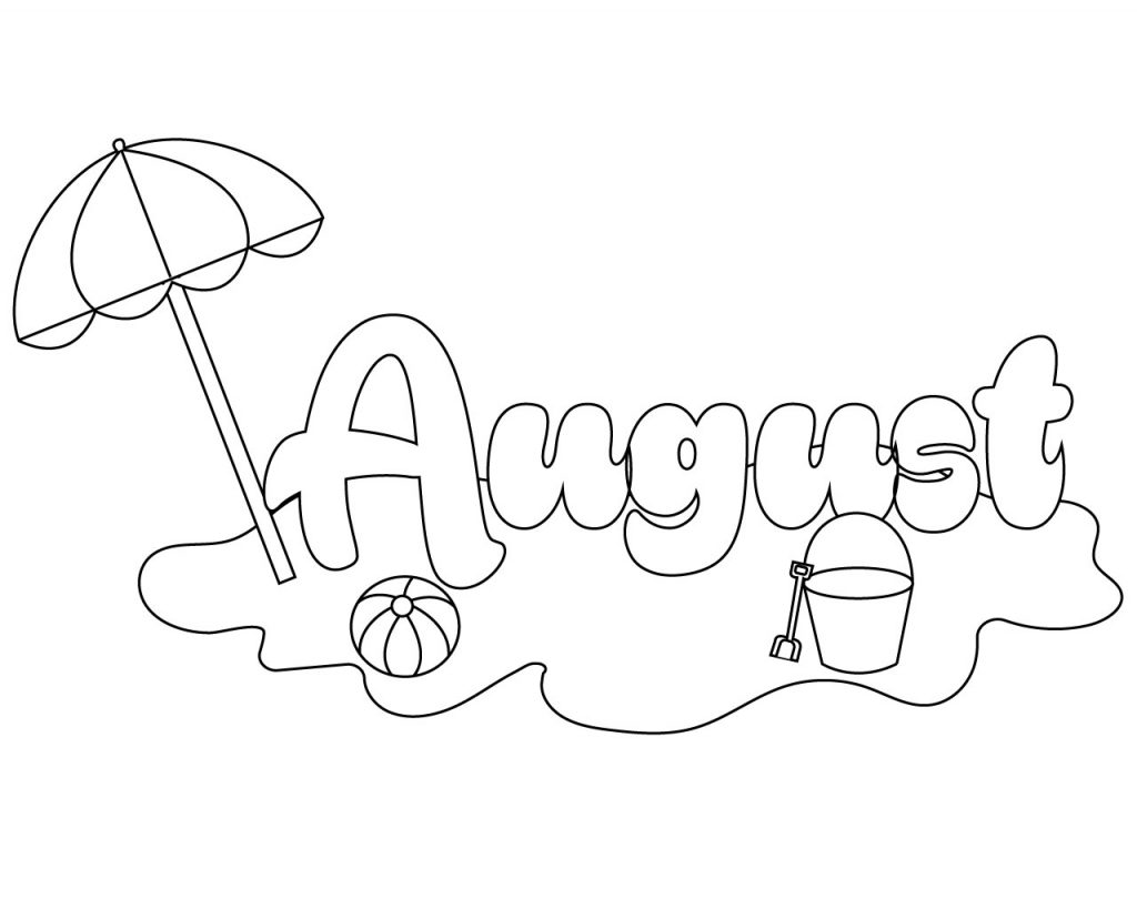 august coloring pages august month picture months coloring page pages coloring august