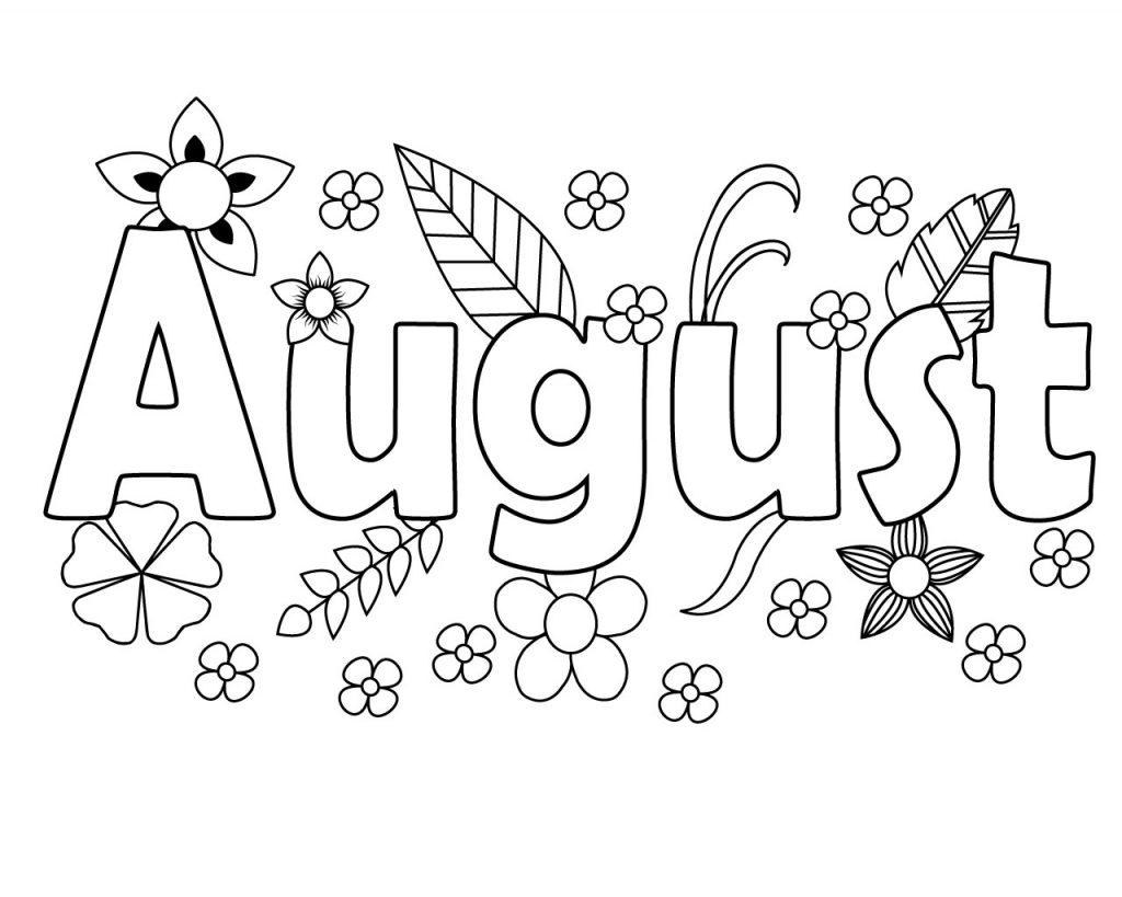 august coloring pages free printable august coloring pages august pages coloring