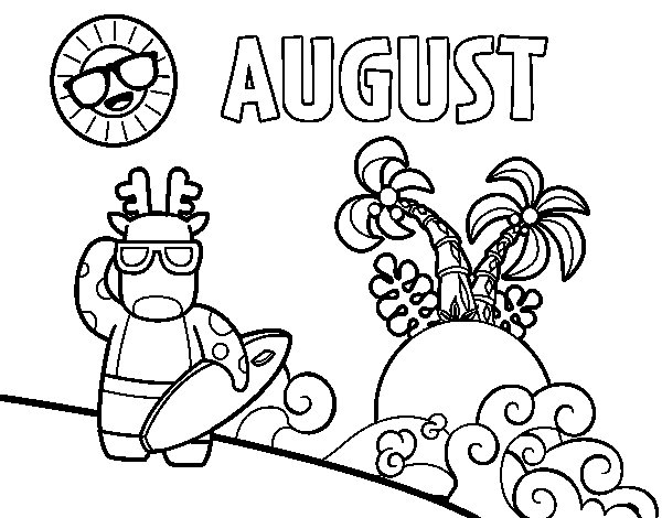 august coloring pages monthly august colouring page printable thrifty mommas tips august pages coloring